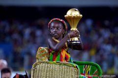 Le trophé de la Coupe dAfrique des Nations