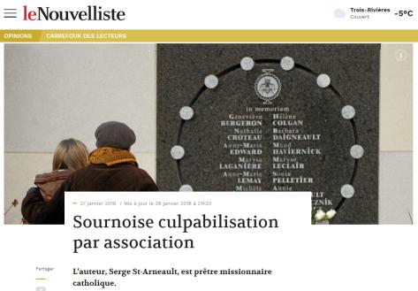 Sournoise culpabilisation par association - Le Nouvelliste