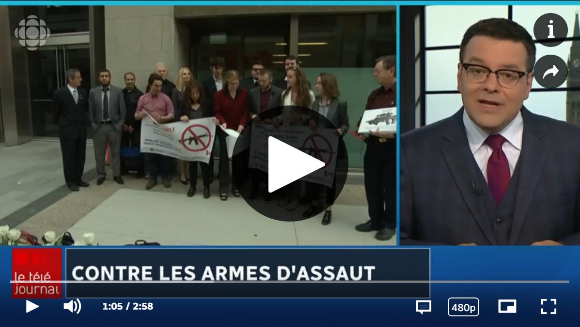 Contre les armes d'assaut Radio-Canada nouvelles
